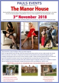 Manor House Event  Saturday 3rd November 2018