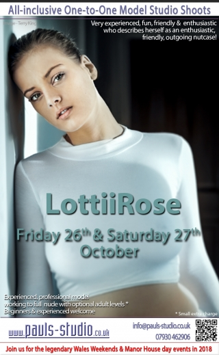 Lottii Rose Friday 26th October 2018 One to One Photo shoots