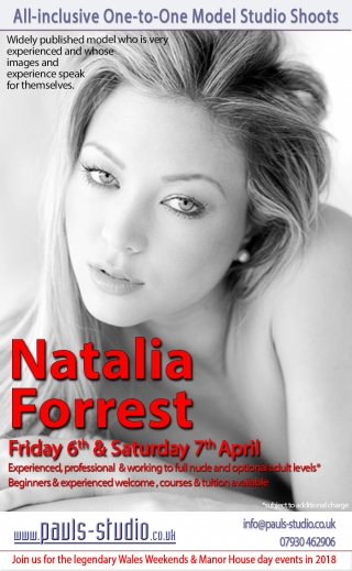 Nataia Forest Friday 6th April 2018 One to One Photoshoots