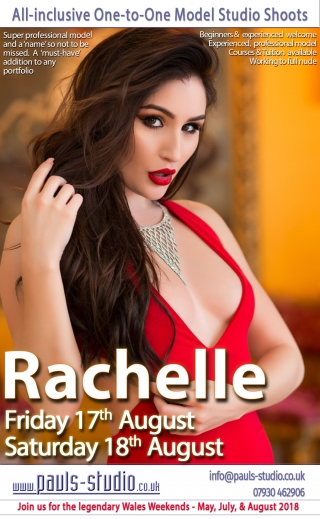 Rachelle Summers Studio Day One to One Shoots Saturday 18th August 2018