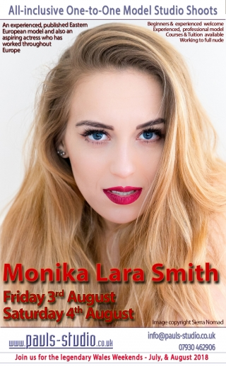 Monica Lara Smith Friday 3rd August Studio Day One to One Shoots