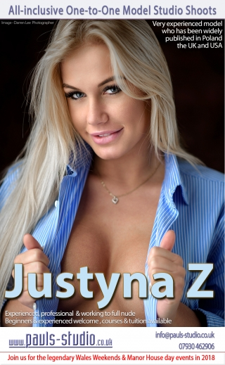 Justyna Z Studio Day One to One Shoots Friday 5th October 2018