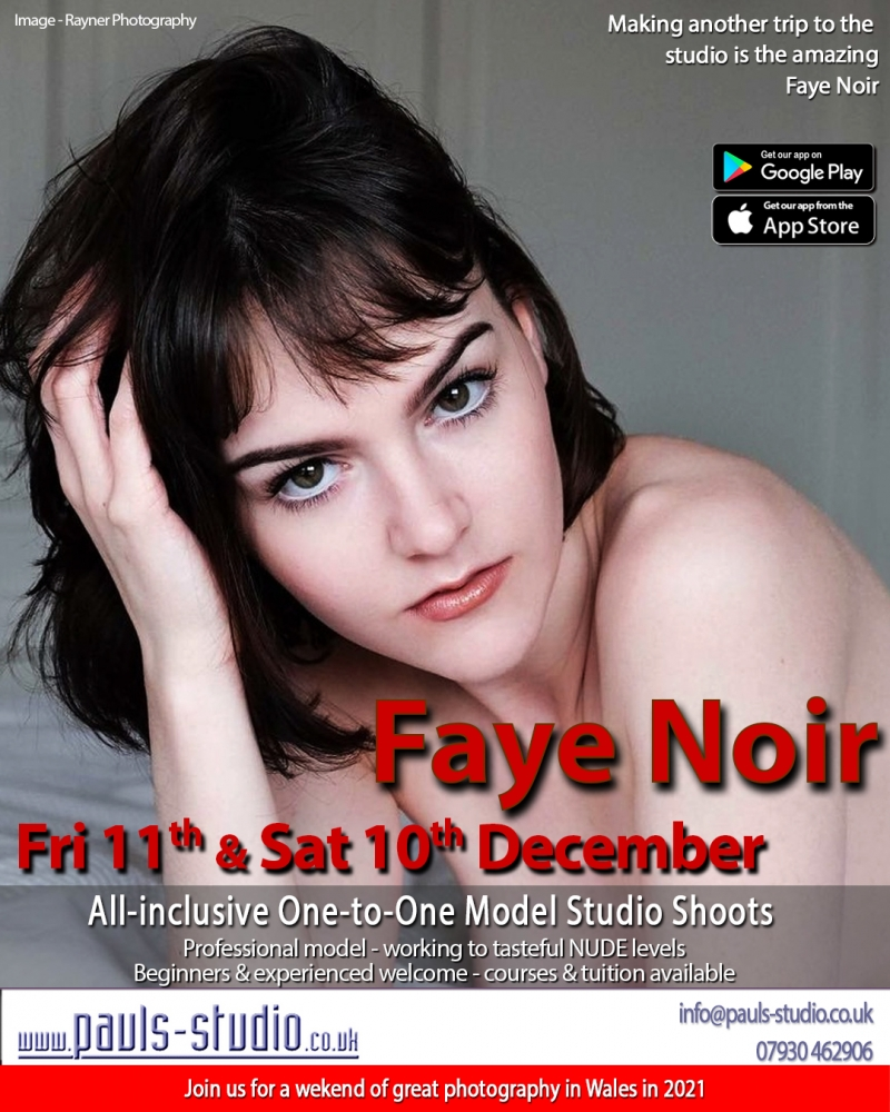 Faye Noir Studio Day One to One Shoots