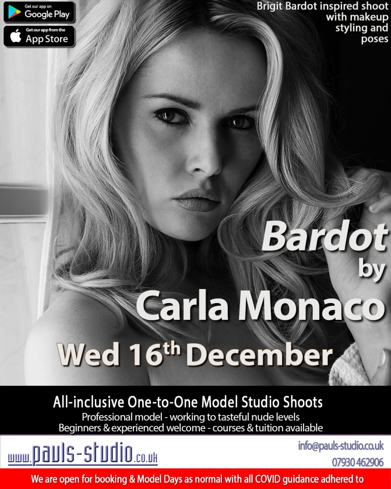 Bardot by Carla Monaco Studio Day One to One Shoots